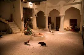 courtyard of a traditional bahraini house in one of the halls of