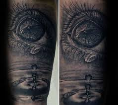 30 water drop tattoo designs for men liquid ink ideas