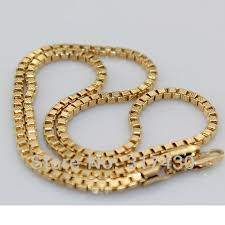 mens link necklace gold images Wholesale free shipping vouge 9k 9ct yellow gold filled box link jpg