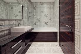 bathroom wallpaper ideas white and navy blue powder room features