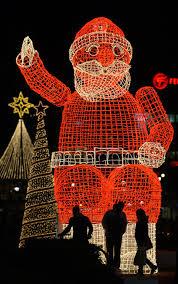 santa claus lights