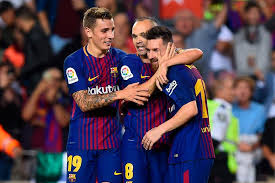 Laliga Table Barcelona 2 Malaga 0 Gerard Deulofeu And Andres Iniesta Fire