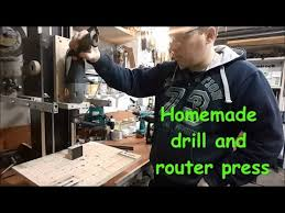 Wood Magazine Bench Top Drill Press Reviews by Homemade Drill And Router Press General Review Youtube
