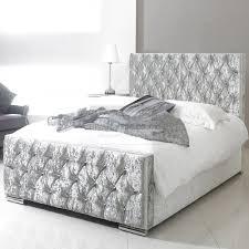 Crushed Velvet Fabric Upholstery Fiona Crushed Velvet Fabric Upholstered Bed Frame Guaranteed