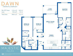 7 X 10 Bathroom Floor Plans by Floor Plans For Fort Myers Majestic Palms Condominiums Near The
