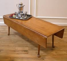 Drop Leaf Coffee Table Use A Vintage Drop Leaf Coffee Table But With A Custom Base So It