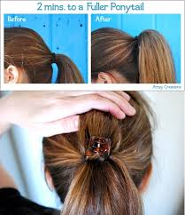 layer hair with ponytail at crown ways to create volume to your ponytail alldaychic
