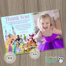 disney princess thank you card princess and pirates card