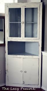 handmade vintage corner cabinet shelf bar painted robins egg blue