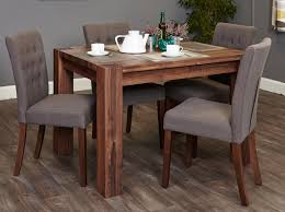 slate dining table set shiro walnut 4 seater dining table set slate flare back socdr04a