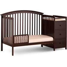 Storkcraft Portofino Convertible Crib And Changer Combo Espresso by Storkcraft Bradford 4 In 1 Convertible Crib And Changing Table