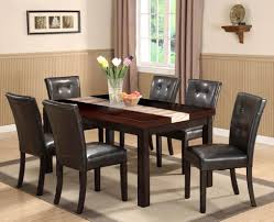 dining room leather chairs black leather chair with black wooden legs combined with rectangle