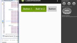 android studio button custom button android