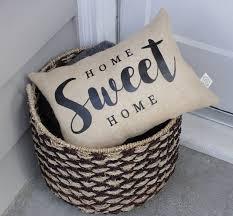 home sweet home pillow burlap pillows burlap pillow cover