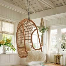 cool bamboo hanging egg chair design idea for sunroom or outdoor