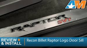 ford raptor logo 2010 2014 f 150 recon billet raptor logo door sill raptor review