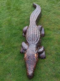 wooden crocodile garden sculpture find wooden animals wooden