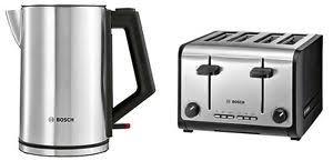 Bosch Toasters Bosch Tat6a643gb Twk7101gb 4 Slice Toaster U0026 Kettle Set In