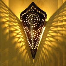 Moroccan Wall Sconce Black Stylish Moroccan Wall Lighting Cone Of Marrakesh