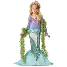 Baby Biker Costume Toddler Halloween Lil U0027 Mermaid Toddler Halloween Costume Size 3t 4t Walmart