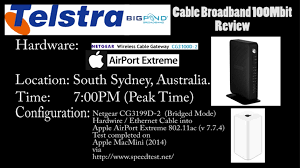 telstra bigpond cable nbn hfc ultimate 100mbps speed test review