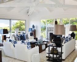 Houzz Living Room Blue And White Living Room Decorating Ideas Blue And White Living