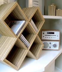 cube cd rack by red lilly notonthehighstreet com