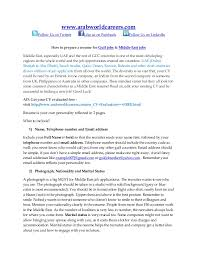 how to prepare a resume for gulf jobs u0026 middle east jobs www arabw u2026