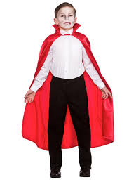 boys girls deluxe satin 95cm cape vampire red book day halloween