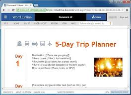 trip planner templates free trip planner templates for word