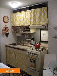 how to update rental kitchen cabinets before after rental kitchen gets an adorable update rental