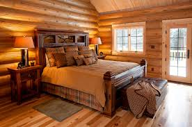 Cabin Bedroom Furniture Reclaimed Wood Rustic Cabin Bed Rustic Bedroom Other By