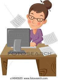 clipart bureau clipart of businesswoman office work business age work