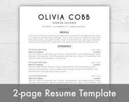 word resume template mac resume template mac etsy