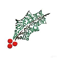 the halls holly embroidery design