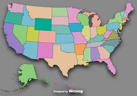 State Map Of The Usa by Vector Colorful State Outlines Vector Map Of The Usa Download