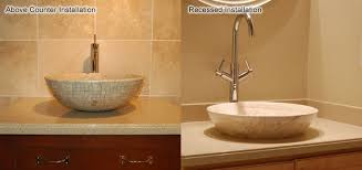 above counter bathroom sink how to install a vessel sink faucet