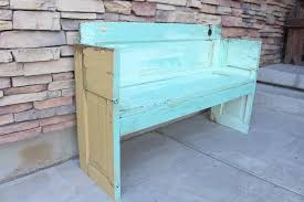 how to build a bench out of an old door hometalk