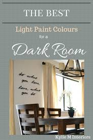 the best light paint colours for a dark room basement light