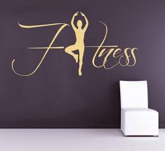 dsu fitness wall decals sportwoman sport gym exercise home