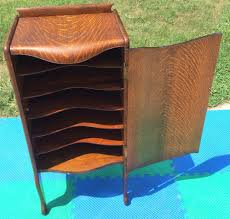 Heaven Antiques And Custom Furniture Los Angeles Ca Antique Herzog Tiger Oak 150 Record Storage Cabinet Phonograph