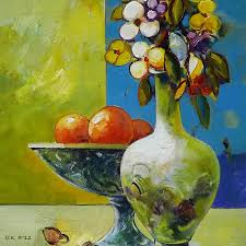 flowers and fruits flowers and fruit painting by ognian kuzmanov