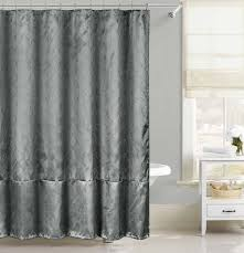 Gray Shower Curtains Fabric Gray Faux Silk Fabric Shower Curtain Silver Raised Pin Dot Fish