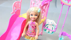 barbie chelsea doll swing elsa barbie dress toy surprise