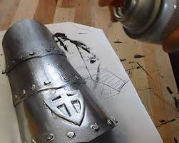 How To Spray Metallic Paint - make craft foam armor vambraces part 4 painting and finishing