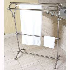 Polished Nickel Bathroom Accessories by Pedestal Satin Nickel Bath Towel Rack Free Shipping Today