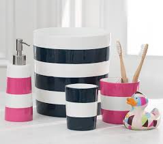 harry potter bathroom accessories pink stripe bath accessories pottery barn kids