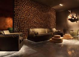 living room wall living room living room accent wall made of wooden logs sets for