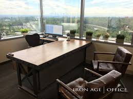 hybrid executive office desk l shape industrial office