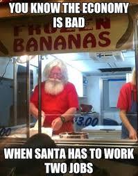 Meme Jobs - santa has to work two jobs funny memes